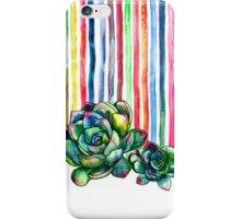 Rainbow Succulents iPhone Case/Skin