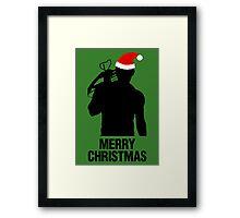 Daryl Dixon Christmas Design (Dark) Framed Print
