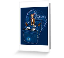 How I learned to love the Tardis. Greeting Card