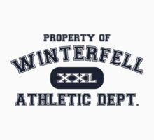 Property of Winterfell Athletics Department T Shirt by xdurango