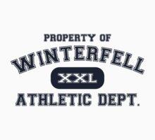 Property of Winterfell Athletics Department T Shirt by xdurango