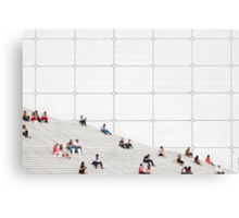 Le Grande Arche steps Paris  Canvas Print