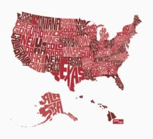 USA Type Map (Red) by seanings