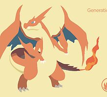 Charizard Vector Flood Art by Aaron Pacey