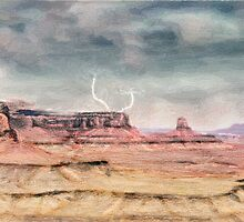 Rain on the desert Buttes by Walter Colvin