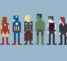 Avengers 8-Bit by Brenton Powell
