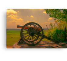 Civil War Cannon at Gettysburg Canvas Print