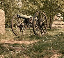 Civil War Historic Cannon at Gettysburg by Dyle Warren