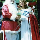 No 9 Santa and Pageant Princess Christmas Adelaide 1980's by Heather Dart