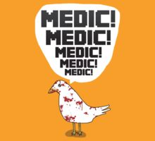 TF2 pigeon - MEDIC! by Foxygamer
