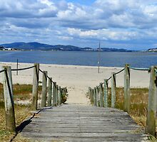 Caminha river beach and walkway by juliedawnfox