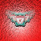 Liverpool FC with red background by Paul Madden