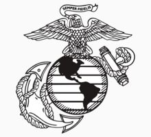 USMC Eagle Global and Anchor Emblem by Matthew Helm