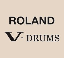 Roland V-Drums Black decoration Clothing & Stickers by goodmusic