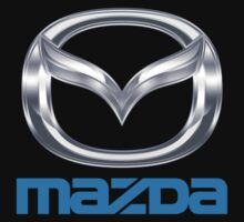 mazda car rice logo black t-shirt tshirt shirt by derogerdi8967