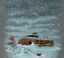 Snow on the Rez III by Jonathan Nelson