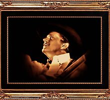 Acknowledging Fans in the Upper Seats, George Strait ... with a matted and framed look by © Bob Hall