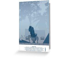 Jurassic Park Film Poster - feat Gennaro Greeting Card