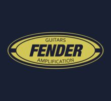 Vintage Fender Oval decoration Clothing & Stickers by goodmusic