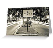 Las Olas Boulevard - B/W Greeting Card