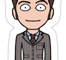 The Tenth Doctor (sticker) Sticker