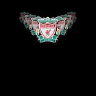 Liverpool FC club crest on black by Paul Madden