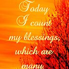 Today I count my blessings ~ which are many by ©The Creative  Minds