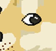 pixel shibe doge Sticker