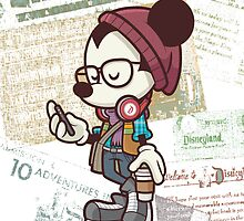 Hipster Mickey  by NicCaridi