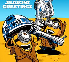 Despicable Jawas - Seasons Greetings Card by DJKopet