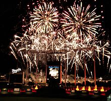 Fireworks at Kauffman Stadium by adastraimages