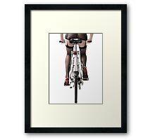 Sexy Woman Riding a Bike art photo print Framed Print