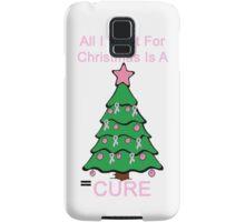 Breast Cancer Christmas Samsung Galaxy Case/Skin