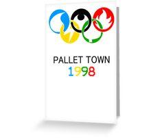 Pokemon Olympics Pallet Town 1998 Greeting Card