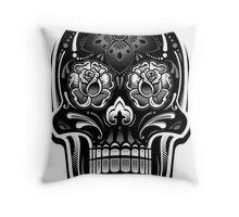 Sugar Skull - Digital Print Throw Pillow