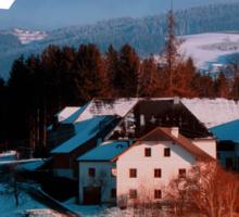Village scenery in winter wonderland II | landscape photography Sticker