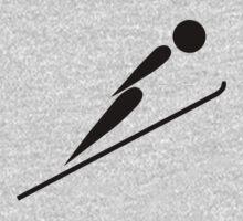 Ski Jumping Icon by cadellin
