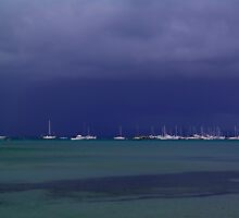 Moored Yachts. by Bette Devine