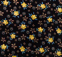 folk fabric- floral (yellow) by Sassee