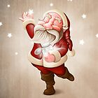 Santa Claus collects stars by jordygraph