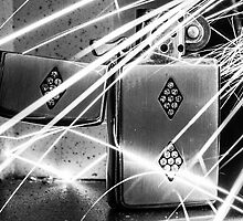 Zippo with sparks coming on it by Zak-Karle