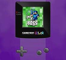 Classic Retro purple gameboy with 8 bit game by Johnny Sunardi