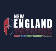 New England Spartan Chick red/blue by CertainDeath