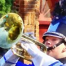 Trumpet Player in Marching Band by Susan Savad