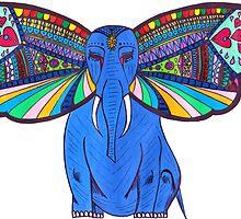 Elephant Butterfly  by Riley J. Broadbent