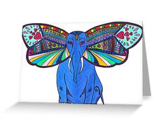 Elephant Butterfly  Greeting Card
