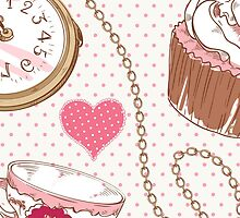 Alice in wonderland, cute cupecake, tea cup by majuli1990