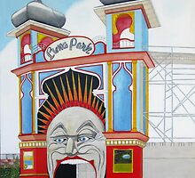 Luna Park blank card by Pauline Bailey