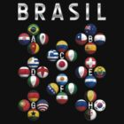Brasil - World Football or Soccer - 2014 Groups - Brazil by graphix