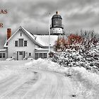 Cape Elizabeth Light Christmas Card by Richard Bean